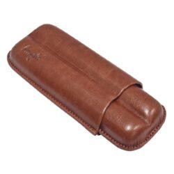 Pouzdro na 2 doutníky Etue Angelo, hnědé, koženka, 160mm-Pouzdro na dva doutníky (Etue). Pouzdro na doutníky je dlouhé 160mm, průměr 23mm. Doutníkové pouzdro je koženkové.
