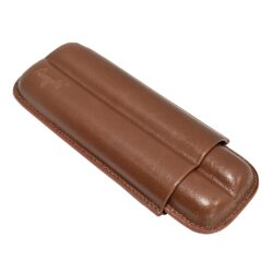 Pouzdro na 2 doutníky Etue Angelo, hnědé, kožené, 170mm-Pouzdro na dva doutníky (Etue). Pouzdro na doutníky je dlouhé 170mm, průměr 18mm. Doutníkové pouzdro je kožené.