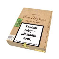 Doutníky Don Stefano Panatela Sumatra Original, 20ks-Doutníky Don Stefano Panatela Sumatra Original vyrobené v Německu. Doutníky jsou dodávané v dřevěné krabičce po 20 ks. Délka 142mm, průměr 10mm. Odběr po celém balení.