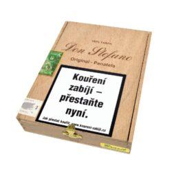 Doutníky Don Stefano Panatela Brazil Original, 20ks-Doutníky Don Stefano Panatela Brazil Original vyrobené v Německu. Doutníky jsou dodávané v dřevěné krabičce po 20 ks. Délka 142mm, průměr 10mm. Odběr po celém balení.