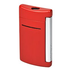 Zapalovač S.T. DuPont Minijet, červený-Kvalitní tryskový zapalovač S.T. DuPont Minijet známé francouzské značky. Za preciznost zpracování kovového, ale velmi lehkého zapalovače hovoří sama značka S.T. DuPont. Díky menší velikosti je zapalovač vhodný na každodenní nošení, prostě se vejde všude a máte ho vždy při ruce. Na boční straně je umístěné okénko, kde je možné vidět hladinu plynu v zapalovači. Na spodní části zapalovače najdete nastavení intenzity plamene a ventil na plnění plynem. Povrch je lakován velmi kvalitním odolným lakem. Zapalovač je dodáván v dárkové bílé krabičce s logem. Výška: 5,4cm.