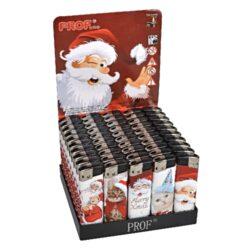 Zapalovač Prof Piezo Santa & Kitty-Plynový zapalovač s vánoční tématikou. Zapalovač je neplnitelný. Prodej pouze po celém balení (displej) 50 ks. Výška zapalovače 8cm.