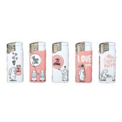 Zapalovač Wildfire Piezo Mini Pink&White(019903)