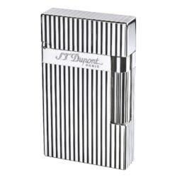 Zapalovač S.T. Dupont Ligne 2 plate stripes, stříbrný(261621)