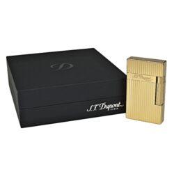 Zapalovač S.T. Dupont Ligne 2, plate stripes, zlatý(261652)
