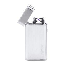 USB zapalovač Silver Match Balham 2ARC, el. oblouk, chromový-Elegantní USB zapalovač s elektrickým zapalováním. USB zapalovač využívá k zapálení elektrický oblouk, namísto tradičního plynu. V zapalovači je integrovaný MicroUSB port, kterým se USB zapalovač dobíjí. V balení je přiložen nabíjecí MicroUSB-USB kabel. Doba nabíjení USB zapalovače cca 1-2,5 hodiny. Výška zapalovače 7,5cm. Zapalovač je dodáván v dárkové krabičce.