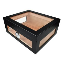 Humidor na doutníky černý 75D, stolní(563075)