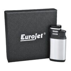 Doutníkový zapalovač Eurojet Amigo 2-Jet, stříbrný(250019)