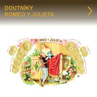 Vynikající kubánské doutníky Romeo y Julieta. Díky kvalitě balení a příjemné středně silné chuti se doutníky Romeo y Julieta stali mezi kuřáky velmi oblíbené a žádané. Romeo y Julieta nabízí velký výběr velikostí těchto skvělých kubánských doutníků.