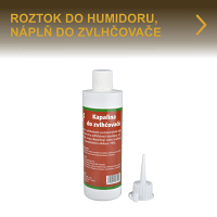 Antibakteriální roztok do humidorového zvlhčovače. Náplň do zvlhčovače do humidoru zamezuje tvorbě plísně, současně dezinfikuje prostor uvnitř humidoru a udržuje doutníky v dobré kondici.